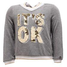 8384V maglia bimba TWIN-SET SIMONA BARBIERI grey sweatshirt girl