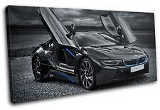 BMW I8 Cars SINGLE DOEK WALL ART foto afdrukken