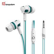In-Ear Headset JM26 Weiss Blau Stereo Kopfhörer Earphone viel Bass + Mikrofon