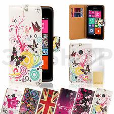 32ª Diseño Pu Cartera De Cuero Funda Para Nokia Lumia Modelos