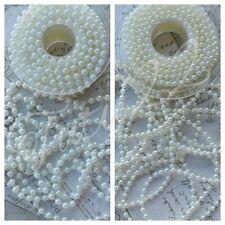 Pearl String 4mm&6mm DIY wedding cake card floristry sewing jewellery UK SELLER