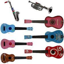 Holzspielzeug Gitarre Bunt aus Holz Musik Kindergitarre Instrument Spielzeug Sevi für Kinder