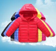 Giacca Bambina Bambino Caldo Piumino Leggero Inverno Girl Winter Jacket CHJAC01