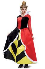 Brand New Disney Alice in Wonderland Queen Of Hearts Deluxe Adult Costume