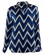 Ralph Lauren Women's Chevron Print Shirt Blouse Tops
