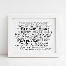 The Beatles Poster, Revolver, Framed Original Art, Album Print Lyrics Gift