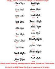 Personalized Name Vinyl Die-Cut Peel N' Stick Decals/Stickers for Water Bottles
