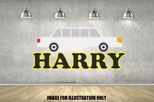 Cartoon Limosine Personalised Name Nursery Childrens Wall Stickers Vinyls
