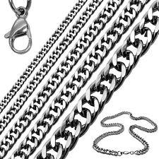 1Collar cadena o pulsera de acero inoxidable sólido color plata Ø 4 6 8 10 12 mm