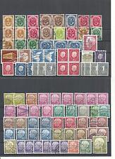 Bund, BRD 1951 - 1969, Sammlungen zur Auswahl,  gestempelt o/postfrisch **