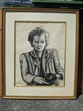 Artwork Sketch - Mother Portrait - Phyllis Andre 1949