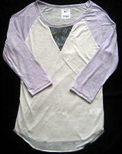 SON OF JOHN T-Shirt mit Pailetten Lavendel-Grau Gr. S und M