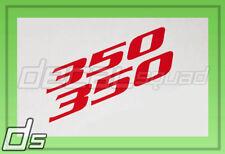 2x 350 Decal Cowl Hood Fender Door Sticker Badge Engine LT-1 L82 L98 LS9 ZQ3 L48