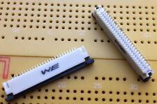 26 conector ZIF del camino FPC de montaje en superficie 1 mm pitch Wurth 686 serie cantidad de múltiples