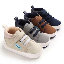 Newborn Baby Boy Crib Shoes Infant Toddler Comfortable Booties PreWalker Trainer
