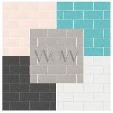 CROWN LONDON TILE GLITTER WALLPAPER WHITE BLACK GREY AQUA FEATURE WALL DECOR