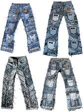TICILA Seven Star Biker Hardcore Denim Fetzen Jeans 30/31/32/33/34/36/38/40/42