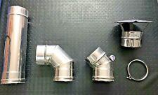 TUBO E Raccordi MONOPARETE ACCIAIO INOX Diam. 130 x Canna Fumaria CURVA 90°  45 8b1543dd5ac2
