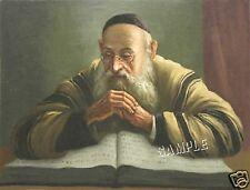 "RABBI Reading TORAH Jewish JUDAICA *CANVAS* Giclee Art Print - LARGE 19"" x 13"""
