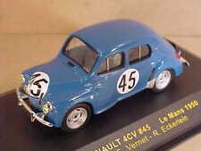 ixo 1/43 Diecast Renault 4CV, 1950 LeMans, #45, Vernet & Eckerlein  #LMC085