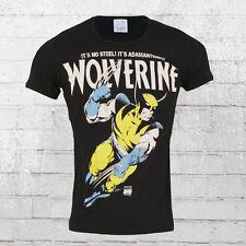 Logotipo camisa señores t-shirt Marvel Wolverine adamántium negro hombres Shirt