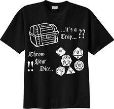 t-shirt THE Dungeon Master trap D&D dungeons & dragons dado gdr TSHIRT Maglietta