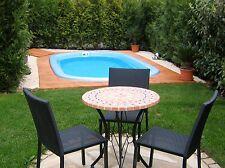 GFK Schwimmbecken 4,8 x 2,5 x 1,2 GFK Pool vollisoliert Komplettset Einbaubecken