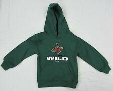 Minnesota Wild NHL Youth Kid's Pullover Hoodie Green S M L