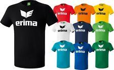 Erima Promo T-Shirt Herren Kinder Basic Männer Sport Shirt Fitnessshirt Baumwoll