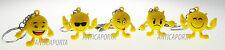 Portachiavi Faccine Emoticon Social Network Smiley con mani e piedi Novità 2016