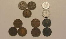 1Pf Pfennig 1874-1945 Choix ABCDEFGHJ Deutsche Pièces de monnaie