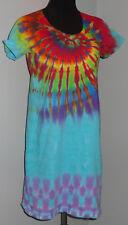 New Hippie Tie Dye Dyed Swimsuit V-Neck Beach Coverup Dress S/M, LG/XL, 2X/3X