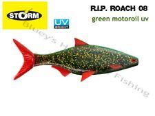 Storm soft plastic R.I.P Roach 08 21cm unrigged fishing Lure;Green Motoroil