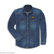 DUCATI Scrambler Denim Rider Jeanshemd Jeans Hemd Shirt Denim blau NEU 2016 !