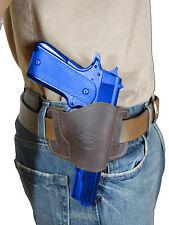New Barsony Brown Leather Gun Quick Slide Holster Ruger Star Full Size 9mm 40 45