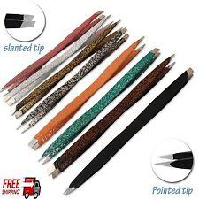 EYEBROW TWEEZER DOUBLE WAY PLUCKER PULLER TWEEZER SLANT/POINTED TIP HAIR REMOVEL