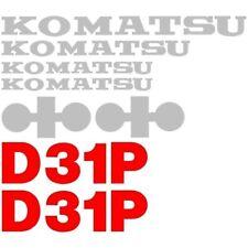 Decal Set for Komatsu Dozer D31P without Stripe