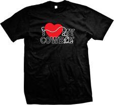 I Heart Love My Cowboy Country Rebel Cowgirl Boyfriend Husband Mens T-shirt