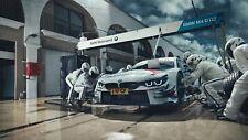 160156 BMW M4 DTM CREW Wall Print Poster Plakat