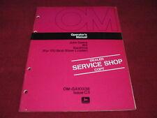 John Deere 165 Backhoe Operator's Manual