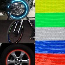 New 8pcs 8mm Bicycle bike Motorbike Car Reflective Rim Tape Wheel Sticker Trim