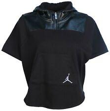 Jordan Big Girls' (7-18) Nike Tonal Coated Fleece Hooded Poncho-Black