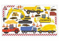 nikima 048 Wandtattoo Baumaschinen Bagger LKW Baustelle Kinderzimmer Junge