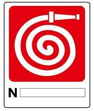 Cartello segnaletica idrante in alluminio 230X290 mm. Fire fighting system sign.