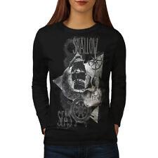 Pirate Shallow Sea Women Long Sleeve T-shirt NEW | Wellcoda