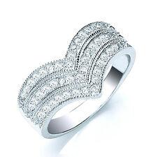 Wishbone Ring Sterling Silver Wishbone Eternity Wedding Ring