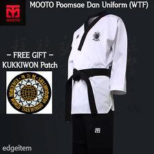 Mooto Poomsae Wtf Dan Uniform (Male) with Kukkiwon Patch Taekwondo Dobok Tkd