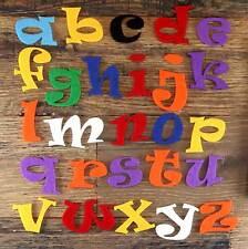 Ensemble alphabet ravie 3mm feutre minuscules A-Z 26 caractères tailles 5-12cm