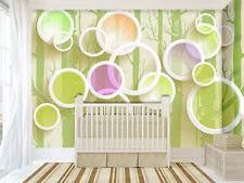 3D Color Circle Tree Cartoon 02 Wall Paper Wall Print Decal Wall AJ WALLPAPER CA