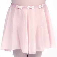 NWOT Dasha Chiffon Pull Up Skirt Dance Ballet Girls Lt Pink 4437 MiniBows detail